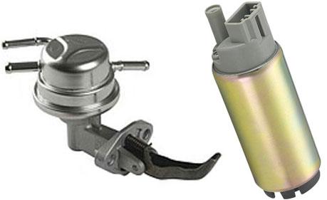 электрический(справа) и механический(слева) топливные насосы